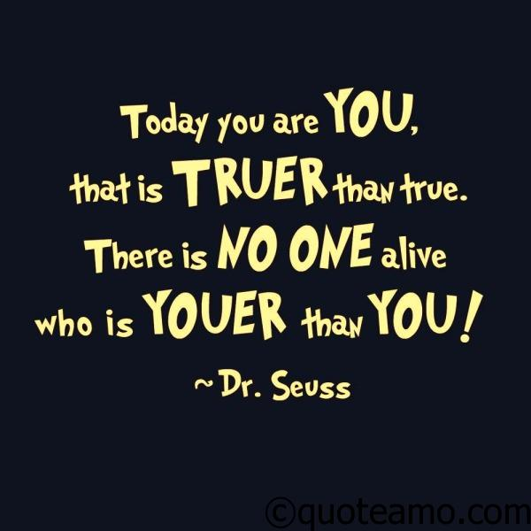 There is no one youer than you - Quote Amo