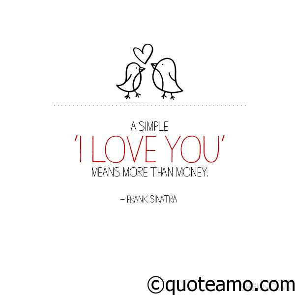 """Simple I Love You Quotes Captivating A Simple """"i Love You""""  Quote Amo"""