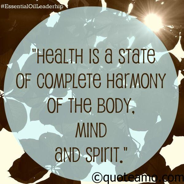 Quotes On Health Cool Health Is A State Of Complete Harmony  Quote Amo